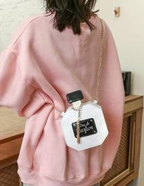 Fashion White Perfume Bottle Mobile Phone Shoulder Messenger Small Square Bag
