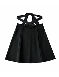 Fashion Black Tie Wide Loose A-line Skirt