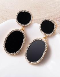 Fashion Gem Acetate Version Diamond Geometric Alloy Earrings