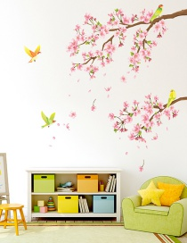 Fashion Leftward Section 30*90cm Magpie Plum Branch Wall Sticker