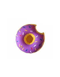 Fashion Donut Cup Holder Purple Pvc Inflatable Bread Beverage Cup Holder