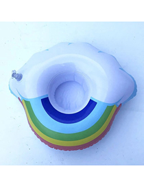 Fashion Rainbow Cloud Cup Holder Pvc Inflatable Rainbow Beverage Cup Holder