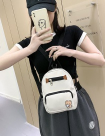 Fashion White Mini Crossbody Backpack