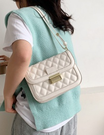 Fashion White One-shoulder Messenger Bag