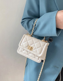 Fashion White Mini Prismatic One-shoulder Crossbody Bag