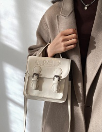 Fashion White Embossed One-shoulder Crossbody Bag