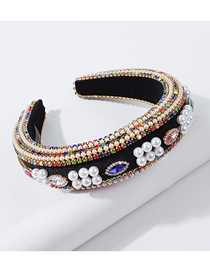Fashion Color Imitation Pearl Diamond Claw Chain Headband