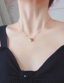 Fashion Gold Color Golden Love Heart Round Bead Chain Necklace
