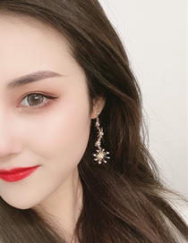 Fashion Gold Color Bright Star Earrings