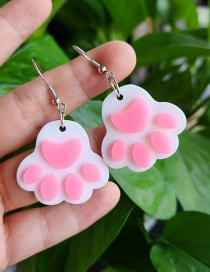 Fashion White Cat Claw Earrings