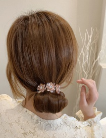Fashion 3#pink Crystal Flower Coil Hair