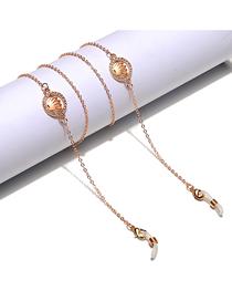 Fashion Gold Color Rhinestone Crown Glasses Chain