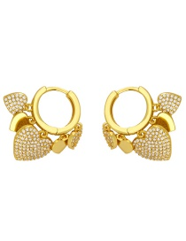 Fashion Gold Color Love Short Earrings