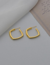 Fashion Gold Color K Gold Plated Square Earrings