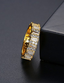 Fashion 18k-6# Gold And Diamond Ring
