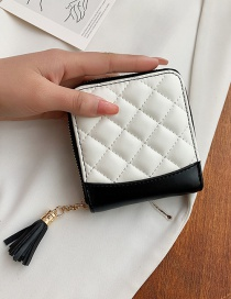 Fashion White Short Tassel Wallet