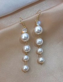 Fashion Golden Alloy Pearl Earrings
