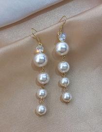 Fashion Golden Alloy Pearl Earrings