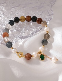 Fashion Color Colorful Pearl Five-pointed Star Moon Bracelet