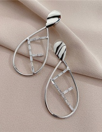 Fashion Silver Color Alphabet Earrings