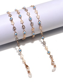 Fashion Color Chain Dripping Eyes Butterfly Glasses Chain