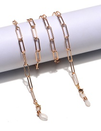 Fashion Gold Color Oval Metal Glasses Chain