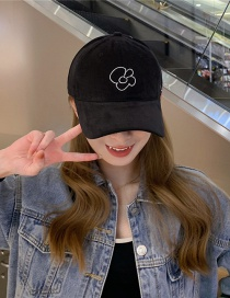 Fashion Black Visor Baseball Cap