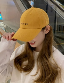 Fashion Yellow Solid Shade Baseball Cap