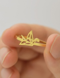 Fashion Gold Color Thousand Paper Crane Ring