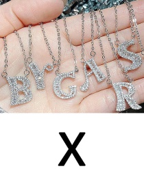 Fashion X English Letter A-z Adjustable Necklace