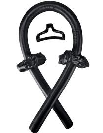 Fashion Black (curling Iron + 2 Hair Loops + 1 Hair Clip) Sponge No Heat Big Wave Curling Iron