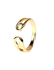 Fashion Gold Color Brass K-gold Plated Brooch Open Ring Ring