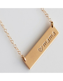 Fashion Golden Love Letter Mama Necklace