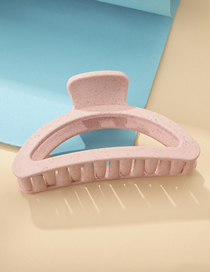 Fashion Ice Cream Semicircle-pink Curved Hollow Square Hair Grab