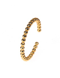 Fashion Golden Golden Round Bead Open Ring
