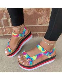 Sandalias De Plataforma De Color