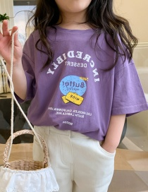 Camiseta De Manga Corta Estampada En Color Liso