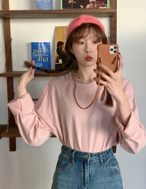 Fashion Pink Long Sleeve Top