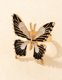 Fashion Gold Coloren Dripping Butterfly Ring