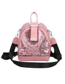 Fashion Pink Sequined Back Crossbody Bag