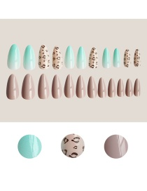 Fashion 8# Long Fake Nails Butterfly Leopard Island Nail Patch