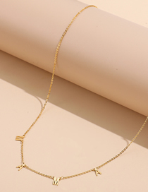 Fashion Golden Mama Letter Necklace