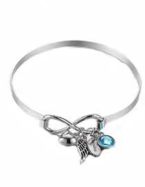 Fashion Grandma Eight Word Knotted Love Wings Bracelet
