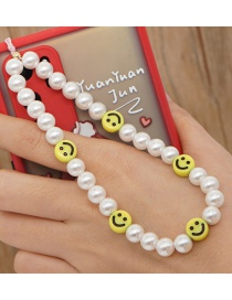 Fashion 9# Soft Pottery Smiley Phone Chain