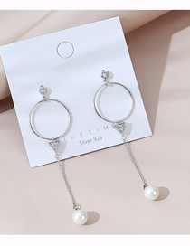 Fashion White Real Gold Plated Hollow Pearl Earrings