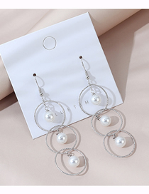 Fashion Silver Real Gold Plated Pearl Earrings