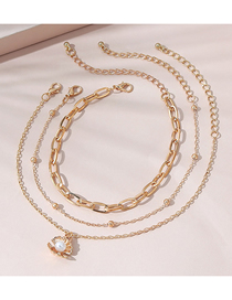Fashion Golden Shell Pearl Anklet Set