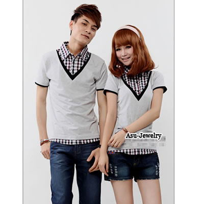 Premier light Gray Fashion Turn-Down Collar Fake Cotton Lover Suit