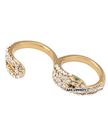 Preppy Gold Color Snake Alloy Fashion Rings