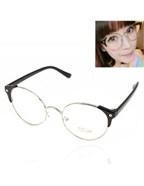 Kinetic With Black Frame Round Shape Frame Resin Fashon Glasses